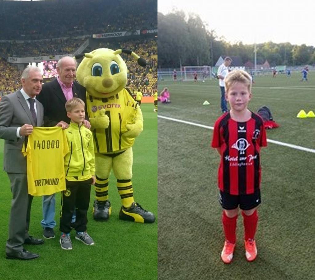 Unser E2 Youngster Connor Mussmann wurde als 140.000 `stes Mitglied beim Ballspielverein Borussia 09 e.V. aus Dortmund begrüßt.