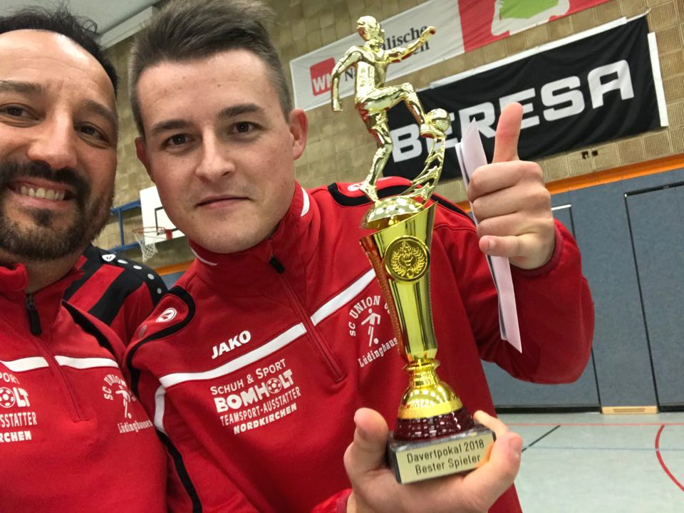 Davert Pokal: Bester Spieler 2018 - Andreas Kahlkopf Foto: Archiv